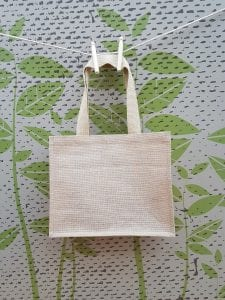 Jute Cotton Bag with Web Handles