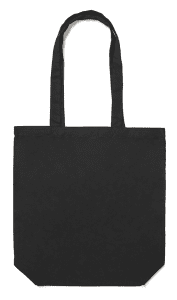 8oz Black Tote Bag