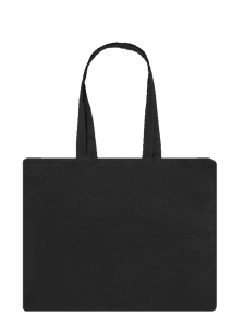 black Long Handle Canvas Bag