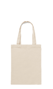 Natural Cotton Bag with Small Handles