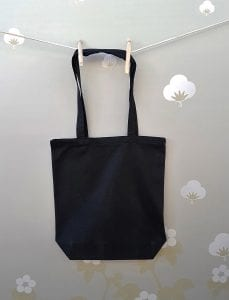 8oz Black Cotton Bag