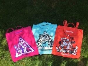 printed festival bags